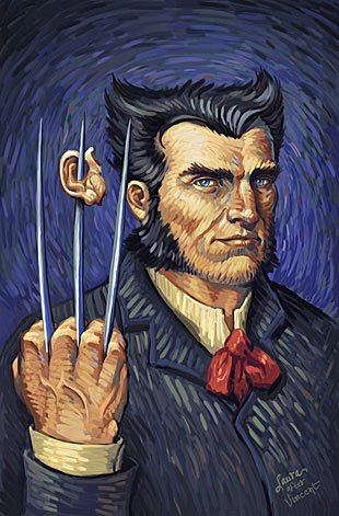 Wolverine, as inspired by Vincent van Gogh